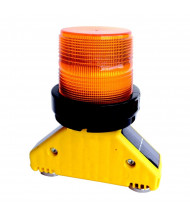 Checkers Safety Group Type D Magnetic Base Solar Barricade Light (Shown in Amber)