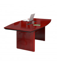 Mayline CTC84 Corsica 7 ft Boat-Shaped Conference Table. Shown in Sierra Cherry