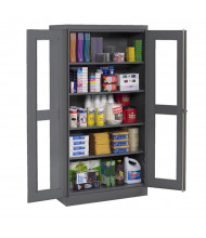 Tennsco Standard C-Thru Storage Cabinets (Shown in Medium Grey)