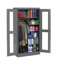 Tennsco Standard C-Thru Combination Wardrobe and Storage Cabinets (Medium Grey)