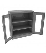 "Tennsco Deluxe C-Thru 42"" Counter Height Cabinets (Shown in Medium Grey)"