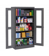 Tennsco Deluxe C-Thru Storage Cabinets (Shown in Medium Grey)