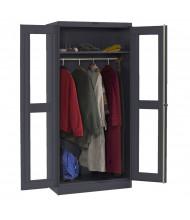 Tennsco Deluxe C-Thru Wardrobe Cabinets (Black)