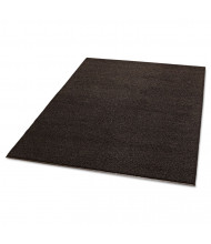 "Crown Spaghetti Vinyl-Loop Floor Mat, Vinyl, 48"" x 72"", Brown"