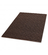 "Crown Unbacked Diamond-Deluxe Duet Vinyl-Loop Floor Mat, Vinyl, 36"" x 60"", Brown/Caramel"