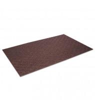 Crown Diamond Deluxe Duet 3' x 20' Polypropylene Back Vinyl-Loop Scraper Floor Mat, Brown/Caramel