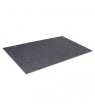 "Crown Diamond Deluxe Duet Vinyl-Loop Scraper Mat, Vinyl, 36"" x 240"", Gray/Black"