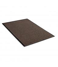Crown Rely-On 3' x 5' Vinyl Back Polypropylene Indoor Wiper Floor Mat, Walnut