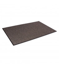 Crown Oxford 3' x 5' Vinyl Back Polypropylene Indoor Wiper Floor Mat, Black/Brown