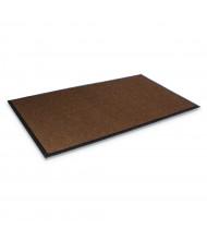"""Crown Super-Soaker 45"""" x 68"""" Rubber Back Polypropylene Indoor Wiper Floor Mat, Dark Brown"""