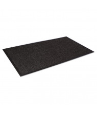 "Crown Super-Soaker Wiper Mat w/Gripper Bottom, Polypropylene, 34"" x 58"", Charcoal"