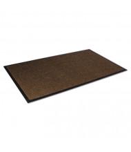 "Crown Super-Soaker Wiper Mat w/Gripper Bottom, Polypropylene, 34"" x 119"", Dark Brown"