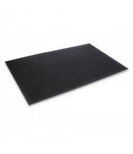 Crown-Tred 3' x 5' Rubber Back Indoor/Outdoor Scraper Floor Mat, Black