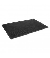 "Crown-Tred Indoor/Outdoor Scraper Mat, Rubber, 34"" x 111"", Black"