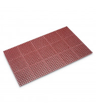 Crown Safewalk 3' x 5' Rubber Back Heavy-Duty Anti-Fatigue Drainage Floor Mat, Terra Cotta