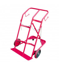 "Vestil CYHT-350 Cylinder Tilt Back 25.5"" W Hand Truck with Chain, Red"