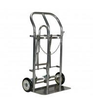 Vestil CYL Fold Down Tilt-Back 4-Wheel Cylinder Hand Trucks (Shown in Double Cylinder Stainless Steel)