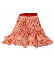Rubbermaid Medium Blend Mop, Red, Pack of 6