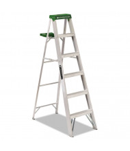 Louisville 6 H 5-Step Folding Aluminum Step Ladder, Green