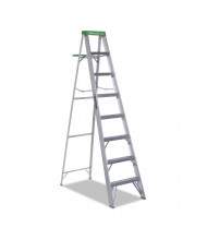 Louisville 8 H 7-Step Folding Aluminum Step Ladder, Green