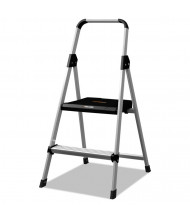 Louisville 2 Step Folding Step Stool, Aluminum, Silver
