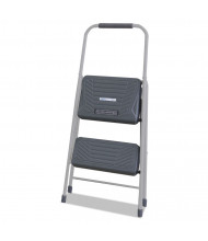 Louisville 2 Step Folding Step Stool, Aluminum,Gray
