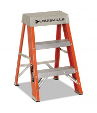 "Louisville 28-3/8"" H 2-Step Fiberglass Heavy Duty Step Ladder, Orange"