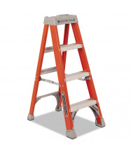 "Louisville 50"" H 3-Step Fiberglass Heavy Duty Step Ladder, Orange"