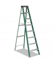 Louisville 8 High 7-Step Folding Fiberglass Step Ladder, Green/Black