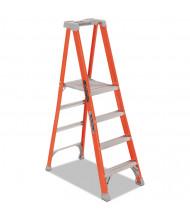 "Louisville 81-1/4"" H 4-Step Fiberglass Pro Platform Step Ladder, Orange"