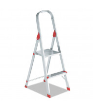 "Louisville 50"" High 2-Step Folding Aluminum Euro Platform Ladder, Red"