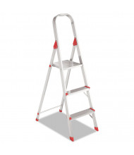 Louisville 8 3-Step Folding Aluminum Euro Platform Ladder, Red