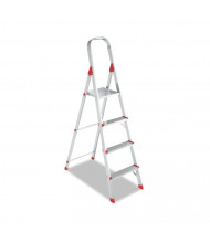 Louisville 8 High 4-Step Folding Aluminum Euro Platform Ladder, Red