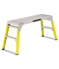 Louisville 1 Step Mini Working Platform Step Stool, Fiberglass, Yellow