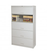 "Datum Stak-N-Lok 100 Series 5-Drawer 36"" Wide Open Shelf Lateral File Cabinet, Legal (Shown in Light Grey)"