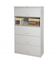 "Datum Stak-N-Lok 100 Series 5-Drawer 36"" Wide Open Shelf Lateral File Cabinet, Letter (Shown in Light Grey)"