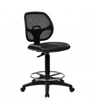 Office Star Work Smart Deluxe Mesh-Back Vinyl Drafting Chair, Footring