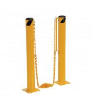 """Vestil 4.5"""" Round 42"""" H Dock Chain Barrier Bollard System DCBB-42-4.5"""