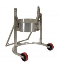 Vestil Carrier/Rotator 55-Gallon Stainless Steel Drum Truck, 800 lb Load