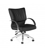 Global Softcurve 4697LM-4 Mid-Back Bonded Leather Office Chair