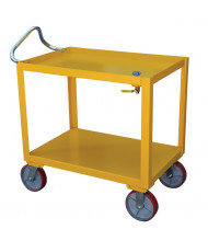 "Vestil DH-PH4-2448-D Ergo-Handle 24"" x 48"" Utility Cart with Drain"