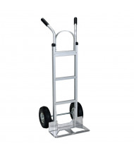 "Vestil DHHT Dual Handle 300-500 lb Load Hand Trucks (Shown with Pneumatic Wheels/18"" W x 7.5"" D Nose Plate)"