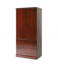 "DMI Belmont 80"" H Lateral File Storage Cabinet, Cherry"