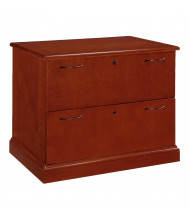 "DMI Belmont 36"" W 2-Drawer Lateral File, Letter & Legal, Cherry"