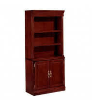 DMI Keswick Cabinet 2-Shelf Bookcase, Cherry
