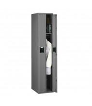 Tennsco Assembled Duplex Single Tier Steel Lockers - Shown without Legs in Medium Grey