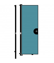 ScreenFlex Door Installed on End Panel - 6 ft. Door (Shown in Blue)