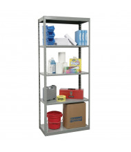 "Hallowell 5-Shelf 87"" H DuraTech Hi-Tech Open-Back Shelving Unit, Dark Grey"
