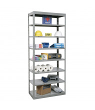 "Hallowell 8-Shelf 87"" H DuraTech Hi-Tech Metal Shelving Unit, Hallowell Grey"