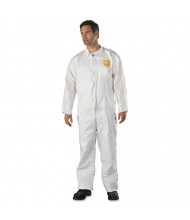 DuPont ProShield NexGen Coveralls, HD Polyethylene, White, Size 2X-Large, 25/Pack